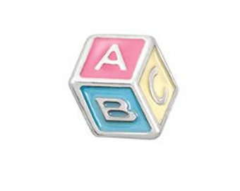 Baby Blocks New Mom Floating Locket Charm Living Memory Lockets Jewelry Making Supplies - 61s