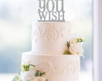 Glitter As You Wish Cake Topper, Classic As You Wish Wedding Cake Topper- (T056)
