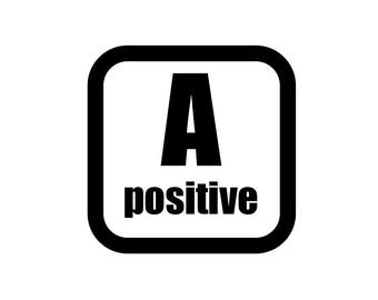 Medical Patch - Blood Type A POSITIVE - Embroidered