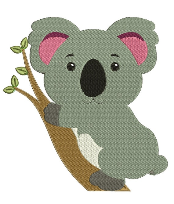 Cute Koala Machine Embroidery Design File Pattern For