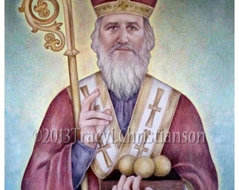 Saint Nicholas Catholic Art Print #4145