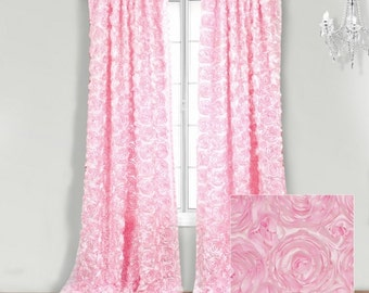 Rosette DRAPE Panel For Home Or Events XLSizes Event Drapes,Window  Treatments,Salon Decor