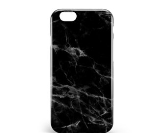 Black marble case. PVC. iPhone 6s, 6s, 7, 7 more, 8, 8 more. Samsung S6, S6 Edge, S7, S7 Edge S8 + S8, illustration, design, france
