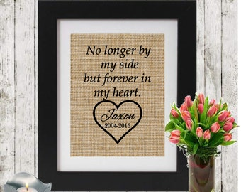 Personalized Sympathy Gift on Burlap - Bereavement/Condolence Gift - Loss of a loved one -Death of a friend/parent/sister/brother