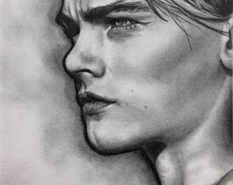 Signed Art Print, Graphite, 'Leonardo DiCaprio'