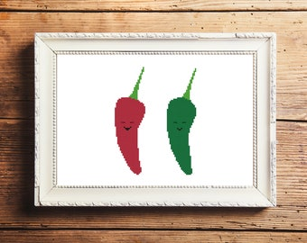 Happy Peppers Cross Stitch Pattern (Digital Download)