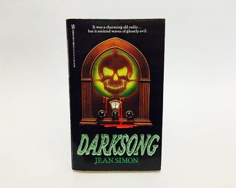 Vintage Horror Book Darksong by Jean Simon 1990 Paperback