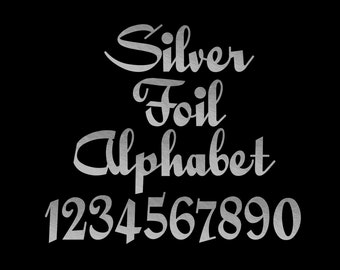 Silver Foil Calligraphy Alphabet Clip Art Letters Font Silver Foil Font Letters Silver Numbers Punctuation 69 Elements Instant Download