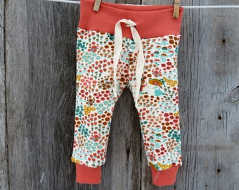 Organic baby clothes, floral baby leggings, baby girl gift, organic girl leggings, boho baby clothes,baby girl clothes,modern baby clothes