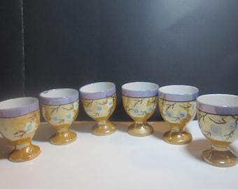 Vintage Lusterware Sake Shot Glasses