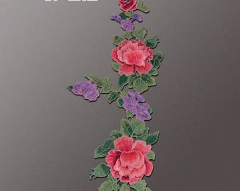 Big Size Floral Appliques, Embroidered Patches
