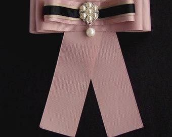 Brooch Ribbon Pink