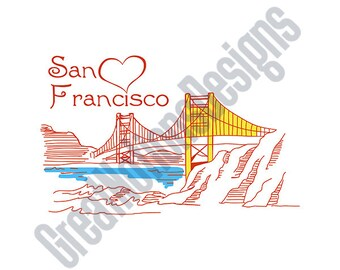 Heart In San Francisco SVG - HTV - Vinyl Cutting Graphic Art