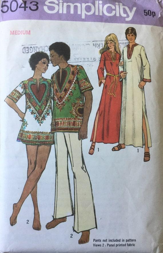 Sewing pattern, Men\'s kaftan pattern, Kaftan Pattern, Vintage ...