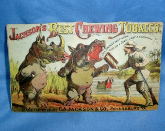 Jackson's Best Chewing Tobacco, Stanley Livingston, Hippos