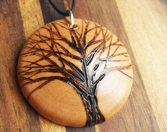 new jewelry from design wooden necklace wood om picture pendant round yoga namaste in gift glass item necklaces art hzshinling