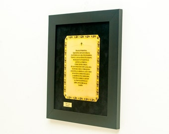 The Lord's Prayer 22K Gold Finished Artwork Bible Gifts Religious Christian Art Home Decor Cristian Gifts Available in Spanish