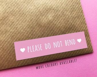 Do Not Bend Sticker, Happy Mail Sticker, Please Do Not Bend Label, Happy Post Stickers, Packaging Stickers, Pretty Happy Mail Labels