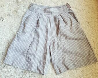Vintage 80s-90s High Waist Stripe Shorts