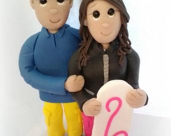 Custom Made Snowboarding Wedding Cake Topper