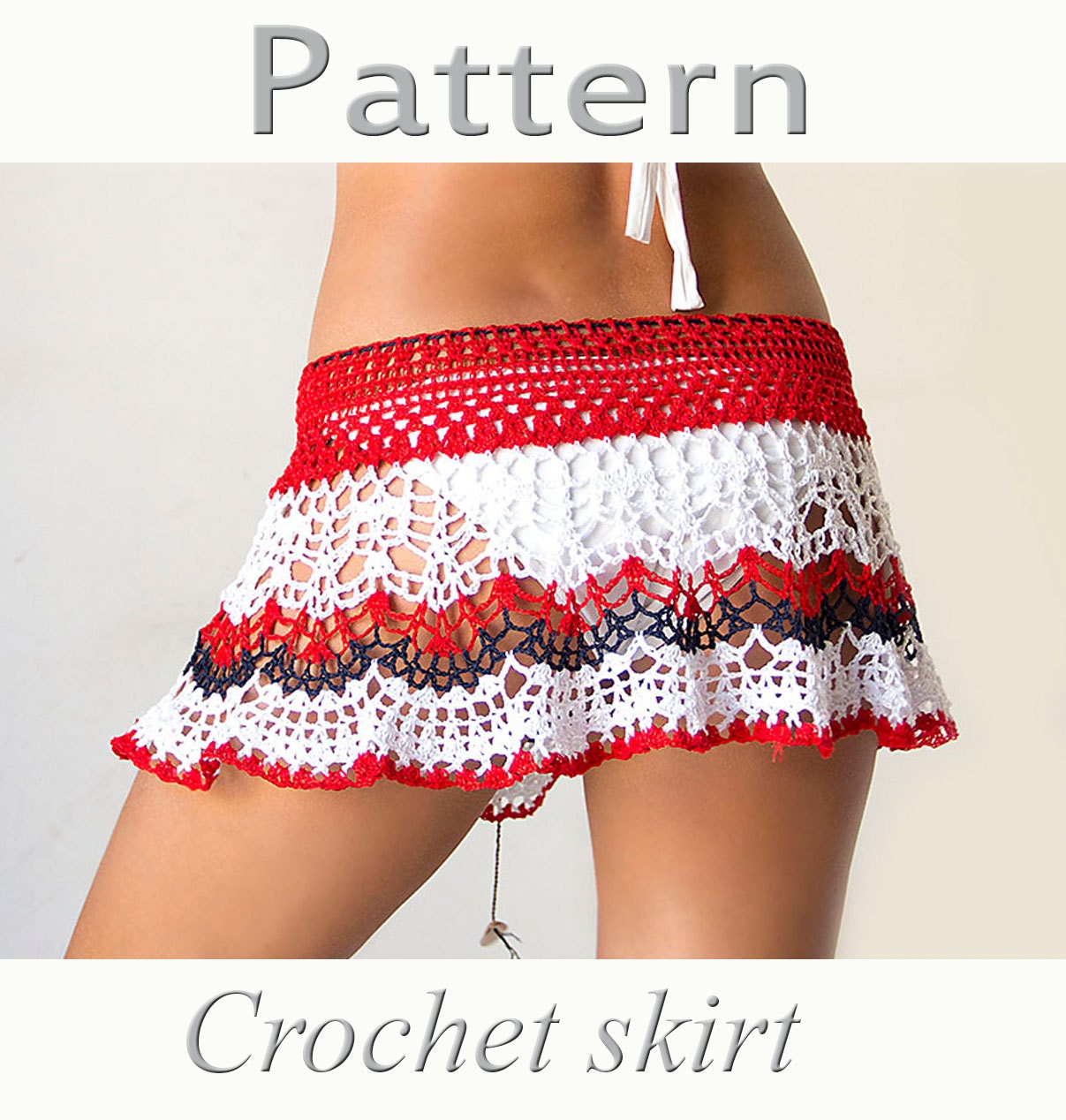 Crochet beach skirt pattern pdf crochet cover up dt1010fo