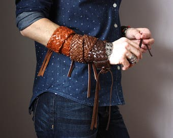 Leather Wrap bracelet, leather bracelet , multi strand cuff, boho bracelet, unisex bracelet, rustic bracelet, boho jewelry
