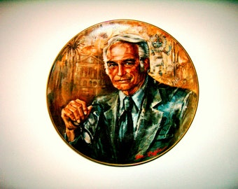 "Vintage Collectors Plate, Don Ruffin,""The Statesman"" Arizona Senator Barry Goldwater,1977 Rare, Limited Edition, Arizonas Artist Don Ruffin"