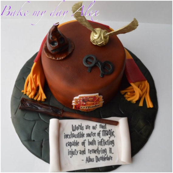Harry Potter edible cake topper birthday party harry potter