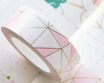 Washi tape gold - pretty masking tape pastel and gold roll