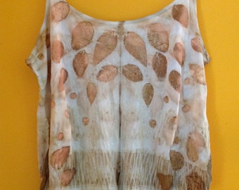 Eco Dyed Silk Camisole Top Tank Singlet Sixe XL