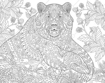 coloring pages animal coloring book pages for adults instant download print