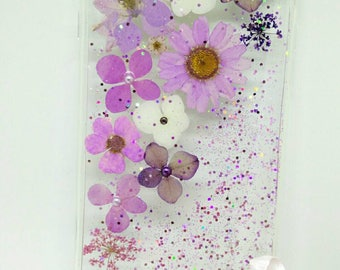 handmade nature pressed dried flower iPhone 6 plus clear case