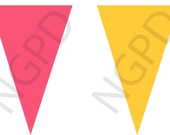 Pink and Yellow Banner