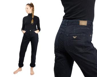 ARMANI JEANS / Armani Jeans Women / Vintage Armani / Moms Jeans Vintage / Black Armani Jeans / High Waist Jeans / Jeans Women / Black Jeans