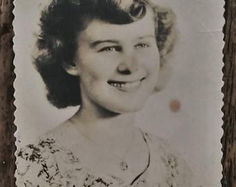 Original Antique Photograph Country Cutie