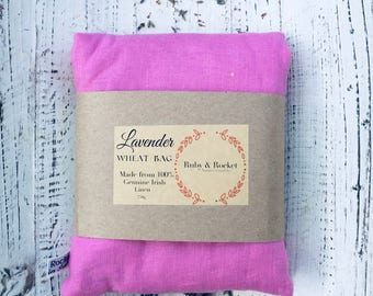 Heat Cold Pack Irish Linen Organic Lavender Wheat Pack Heat Cold Bag Microwaveable Washable Heating Pad Pink