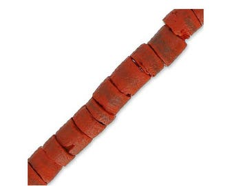 Red 5 mm-10 cm coconut beads