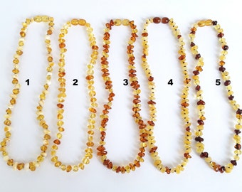 Baltic amber teething necklace amber baby necklace amber necklaces for teething baltic amber babies necklace amber child necklace baby gift