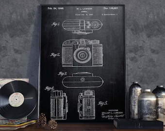 Camera Patent Print| Vintage Camera Poster| Gift for Photographer| Home Decor| Gift for Director| HPH041