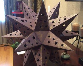 Large Geometric Star Lamp