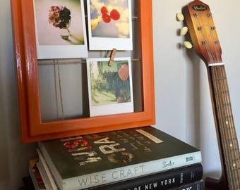 Orange photo-montage frame