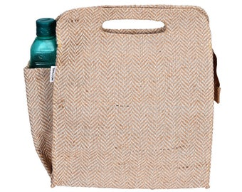 DILLY Hessian / Cotton Blend Reusable Lunch Bag