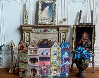Miniature fireplace screen, Miniature accessory, furniture decoration, Collection 1: 12th scale Dolls House