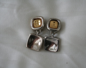 Vintage Givenchy Square Clip Earrings