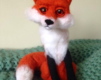 Large Fox Ooak Soft Sculpture