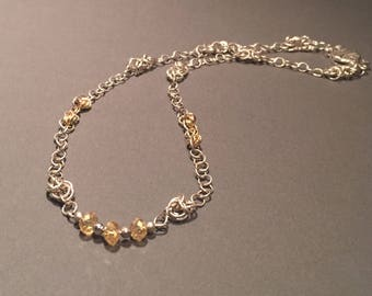 Gold-filled & Sterling Silver Chainmaille Necklace