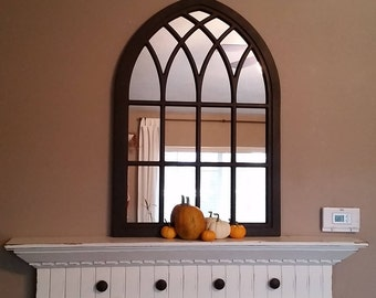 """35"""" Tall Strasbourg Cathedral Window Mirror"""