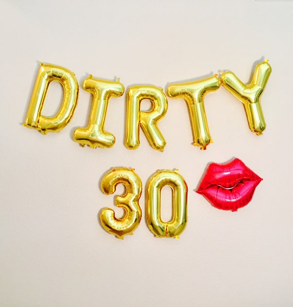 Dirty 30 balloons dirty 30 party dirty 30 30th birthday for 30th birthday decoration packages