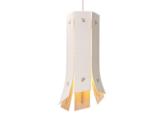 Colourful 'Leek' Pendant Light (white)