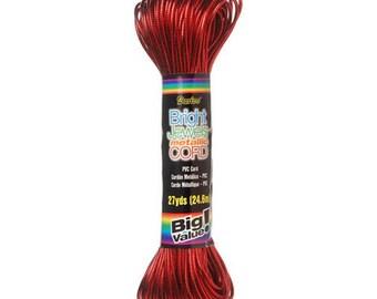 Bright Jewels Metallic Cord - Red - 27 yards-3411-03